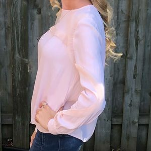 Frilly Pink Long Sleeve Blouse